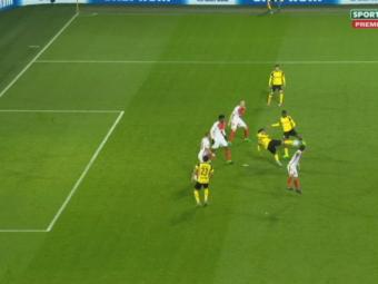 VIDEO: A ratat cineva nebunia asta? Pasa SCORPION KICK a lui Aubameyang la primul gol al Borussiei