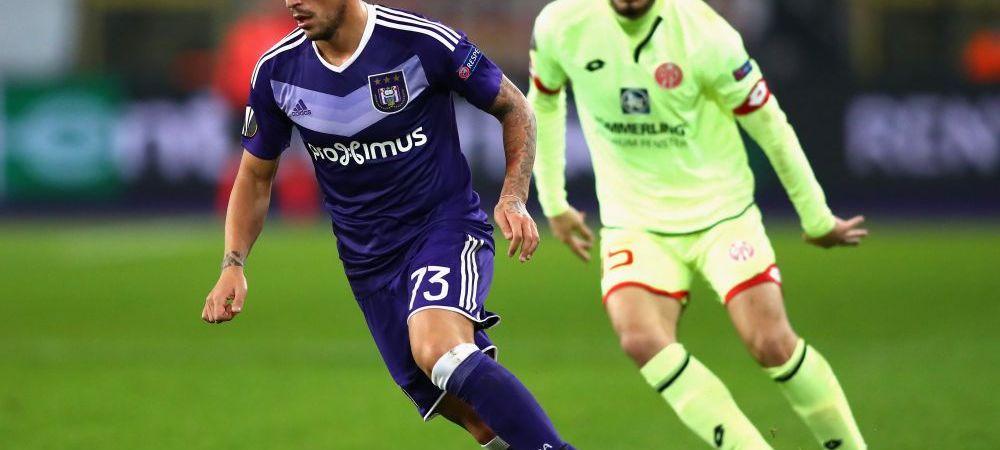 """Stanciu a luat nota 4,5 in presa din Belgia: """"Abia a atins mingea!"""" Reactia antrenorului dupa 1-1 cu United"""