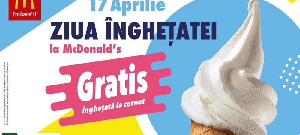 (P) Pe 17 aprilie e Ziua Inghetatei doar la McDonald's