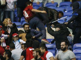 12 arestati si 7 raniti, bilantul atacului huliganilor turci la Lyon. Francezii nu vor sa mearga in Turcia