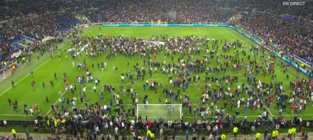 Primele masuri anuntate de UEFA dupa haosul de la Lyon - Besiktas. Pentru ce vor raspunde cele doua cluburi