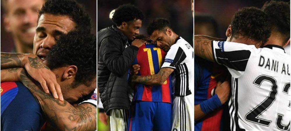 Gestul care nu are nevoie de cuvinte: Dani Alves si Neymar au varsat lacrimi dupa meciul de pe Camp Nou. VIDEO