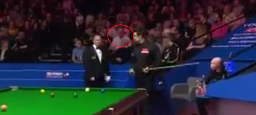 Faza ANULUI la Mondialul de snooker! Arbitrul a dat afara un spectator. Ce s-a intamplat la meciul lui O'Sullivan