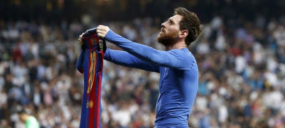 S-a aflat! MOTIVUL pentru care Messi s-a dezbracat si le-a aratat tricoul rivalilor de pe Bernabeu