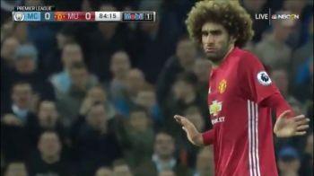 VIDEO: Fellaini l-a IMPUNS pe Aguero. Mourinho si-a iesit din minti. Pentru ce a primit rosu starul belgian