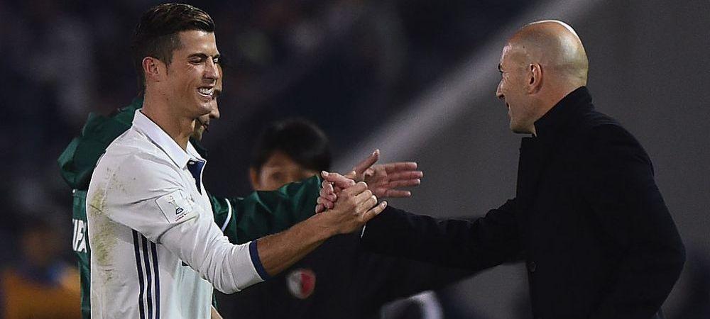 """Zidane a sarit sa-l apere pe Cristiano Ronaldo: """"Este grozav! Poate juca oriunde!"""" Care a fost intrebarea"""