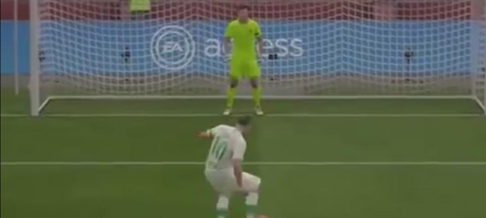 VIDEO FABULOS! Cel mai tare penalty batut VREODATA la FIFA? Cum intra mingea in poarta