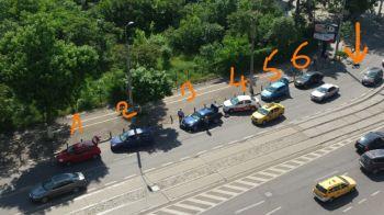 Imaginea zilei in Bucuresti! 6 pene de cauciuc in acelasi canal fara capac! Rezolvarea FABULOASA a politistilor!
