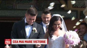 Stelistul Ovidiu Popescu s-a casatorit la Timisoara. Ce cadou i-a facut Gigi Becali. VIDEO