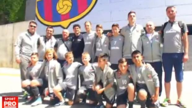 "Echipa ""Performanta Are Viitor"" a trait experienta Barcelona: 11 pusti super talentati, acasa la Messi si Pique VIDEO"