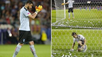 """Dollarumma!"" Scene incredibile! Italienii au aruncat cu dolari in Donnarumma la EURO U21! VIDEO"