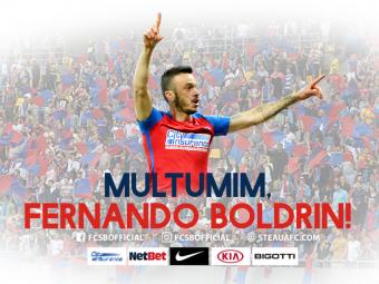 OFICIAL | Steaua l-a vandut pe Boldrin. Mesajul brazilianului la plecarea din Romania