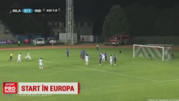 Un roman a facut spectacol in primul tur al preliminariilor Europa League: doua goluri perfecte din doua lovituri libere. VIDEO