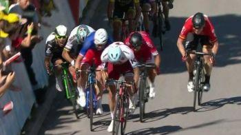 Finis cu scandal in Turul Frantei! Sagan l-a scos din Tur pe Cavendish si a fost exclus! Demare a castigat etapa de la Vittel