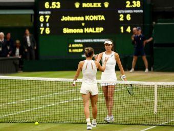 Record istoric la Wimbledon pentru Simona Halep in meciul de cosmar cu Konta! Anuntul facut de WTA