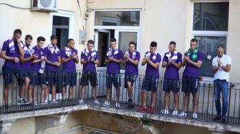 Cea mai tare prezentare pentru o echipa din Romania! Au iesit la TERASA cu fanii. Imagini senzationale