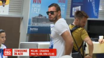 """Stelistii au dat peste un SIMBOL dinamovist in aeroport la plecarea spre Plzen: """"La norocul lor, se califica!"""""""