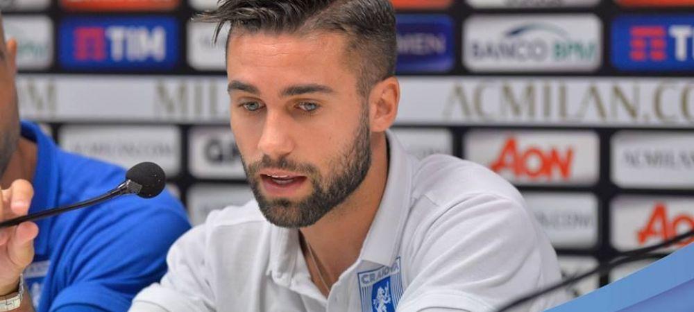 """Mergem la Milano cu calificarea inca deschisa!"" Ce a declarat singurul italian din echipa Craiovei"
