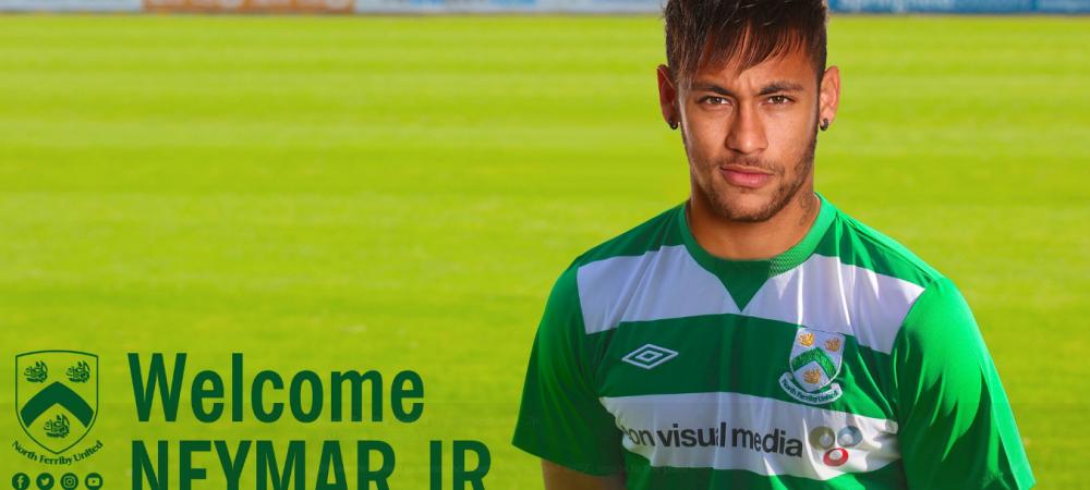"""""""Bun venit, Neymar! Ne bucuram sa anuntam ca l-am furat de la PSG"""" :) Englezii se tin de glume: un club de liga a sasea a anuntat mutarea"""