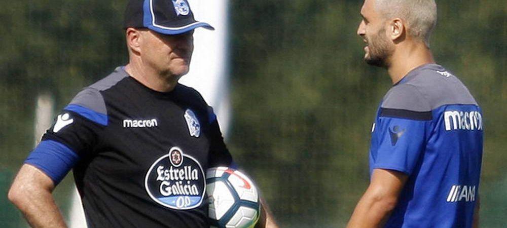 Andone, bagat in sedinta de antrenorul lui Deportivo! Ce mesaj i-a transmis inaintea debutului cu Real Madrid