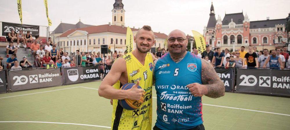 Visit Oradea Streetball: Sandu Lungu, unu la unu cu Levi Szjiarto, cel mai titrat baschetbalist roman in activitate