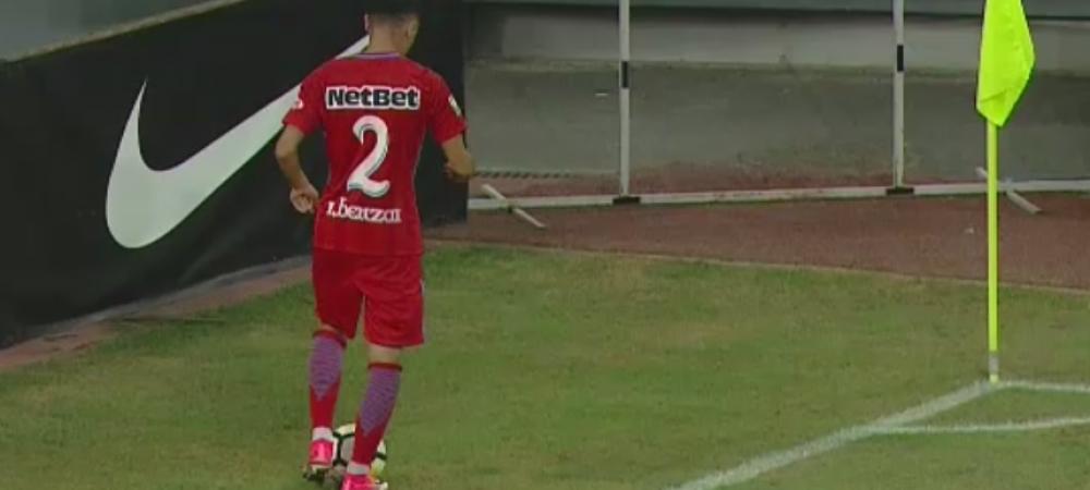 "Romario Benzar, dupa debutul la Steaua: ""Nu imi vine sa cred cum arata gazonul, nu poti sa joci, sa pasezi"""