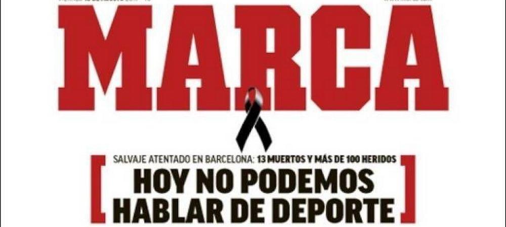 "FARA CUVINTE! Mesajul emotionant pe prima pagina din Marca: ""Astazi nu putem vorbi despre fotbal"""