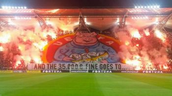 "UPDATE | Ce amenda a primit Legia dupa ce fanii au afisat un banner urias cu ""UEFA, amendeaza-ne cu 35.000 €"" :)"
