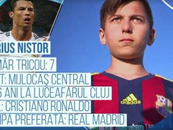 "Singura echipa care ii are titulari si pe Messi, si pe Ronaldo va juca pentru Romania la Mondialul Danone! Cine e ""micul Ronaldo"""