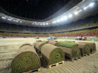 """COMUNICAT OFICIAL: """"Gazonul este montat in proportie de 50%!"""" Cum va arata la meciul cu Sporting"""