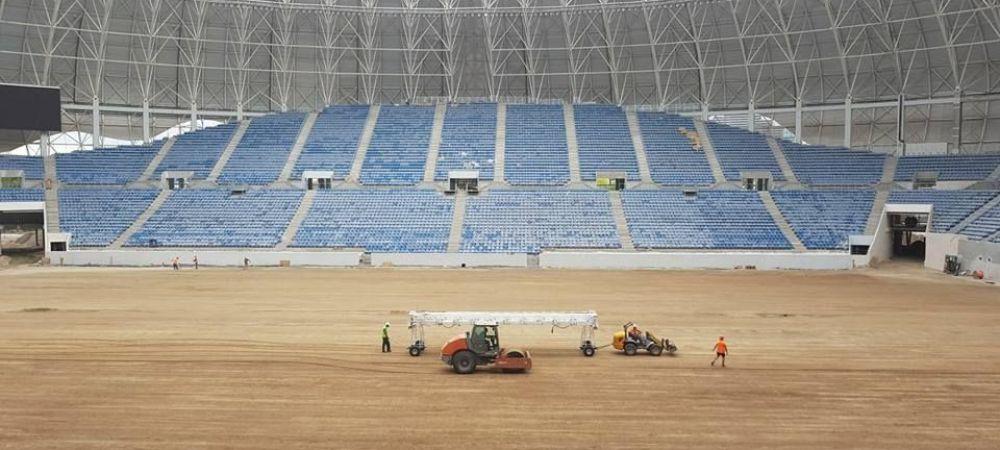 Imagini spectaculoase de la Craiova: se monteaza gazonul pe noul stadion Ion Oblemenco! FOTO