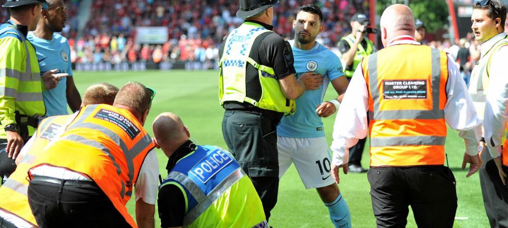 Scandal urias in Anglia: Aguero, investigat de politie dupa ce a lovit un steward! Ce s-a intamplat la meciul lui City