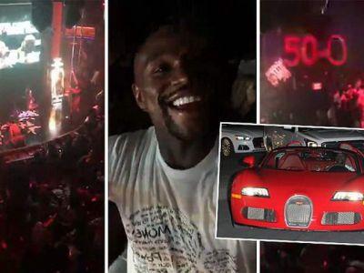 A venit politia! Petrecere MONSTRU pentru Mayweather dupa victoria cu McGregor! A venit cu un bolid de 4 milioane! VIDEO