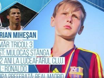E stangaci, dar e mai mult Ronaldo decat Messi! Pustiul care a dat cel mai tare gol al Cupei Hagi Danone va juca pentru Romania la Mondialul de la New York