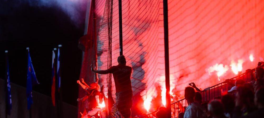 VIDEO! Rusii au venit cu LANSATORUL de torte la meci! Celebrul Aytekin, aproape de a fi lovit in primul meci arbitrat in UCL de la Barca - PSG