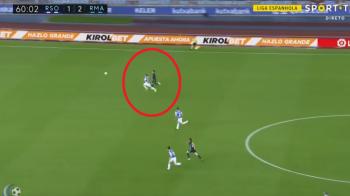 Faza la care Bale a depasit viteza legala in localitate :) Sprint fantastic al galezului, in meciul cu Sociedad