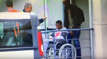 Blestemul milioanelor! VIDEO: Cel mai scump transfer din istoria Barcelonei, in scaun cu rotile! Nu mai joaca niciun meci anul asta