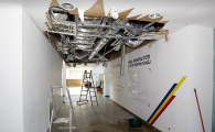 UPDATE | Efectele furtunii la centrul de fotbal Mogosoaia: tavanul cazut, subsolul inundat, curentul si gazele oprite! FOTO