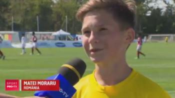 """""""Mi se spune Messi dupa stilul de joc. Dupa fizic nu, ca eu sunt mai frumos"""" :)) Declaratie geniala a pustiului care a calificat Romania in sferturile Danone Nations Cup"""