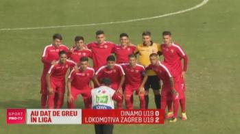 Dinamovistii n-au fost prea pregatiti pentru Liga Campionilor: juniorii au debutat cu infrangere in Youth League, 0-2 cu Lokomotiva Zagreb