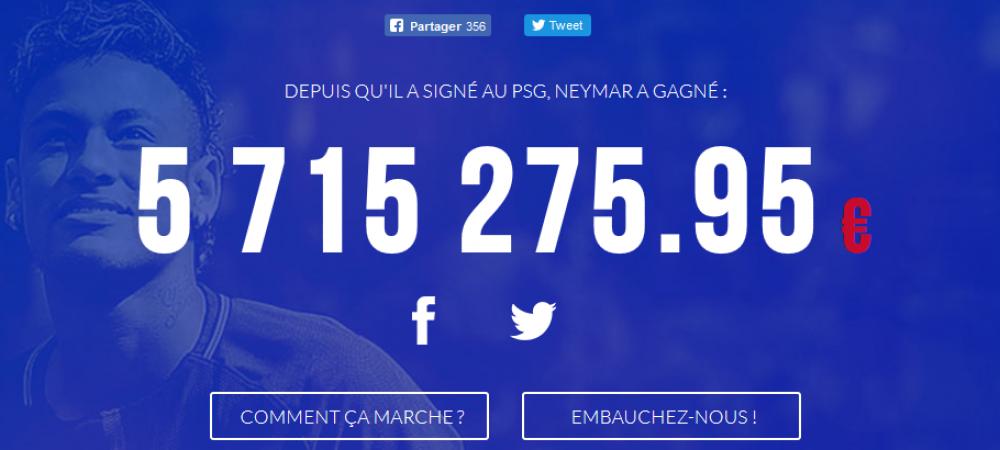 Te uiti si castiga Neymar :) Super aplicatia care iti arata LIVE cati bani ii intra in cont lui Neymar, in fiecare secunda