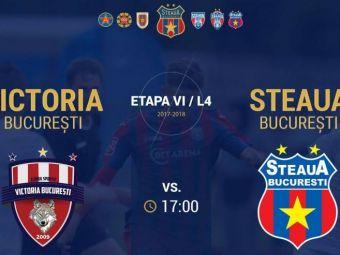 MASACRU in L4! Steaua a batut-o cu 11-0 pe Victoria! Predescu a marcat de 6 ori! Are un golaveraj INCREDIBIL