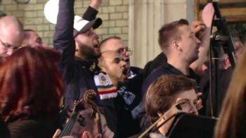 Super imagini: fanii lui U Cluj au cantat imnul echipei cu orchestra simfonica! VIDEO