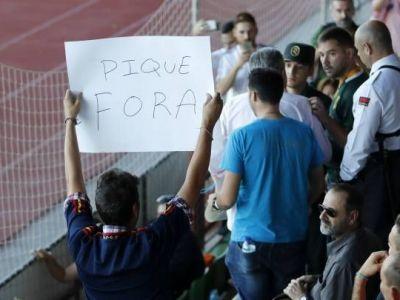 "Pique, prezent la antrenamentul nationalei Spaniei, atacat de fani: ""Ticalos, afara de la nationala"""