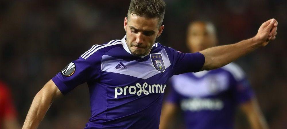 Chipciu s-a intors accidentat de la nationala si rateaza debutul noului antrenor al lui Anderlecht. Anuntul facut in Belgia