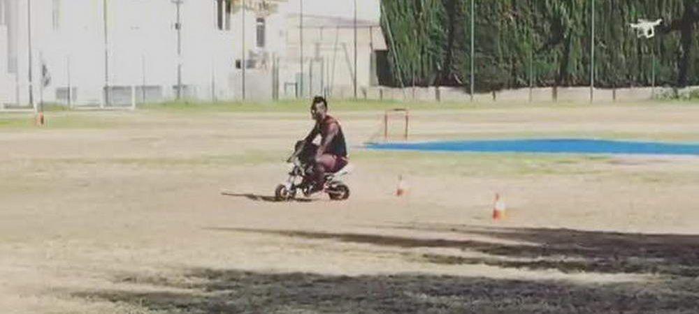 Super Mario KART! Balotelli face curse cu o mini motocicleta la antrenamentul lui Nice. VIDEO