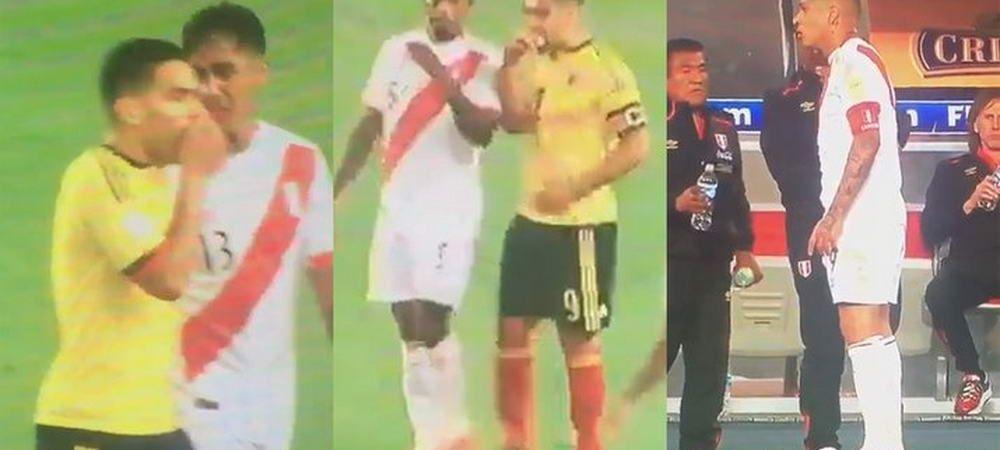 """Banuielile au fost confirmate! S-a aflat ce i-a zis Falcao rivalului din Peru in timpul meciului: """"Asa e fotbalul!"""" VIDEO"""