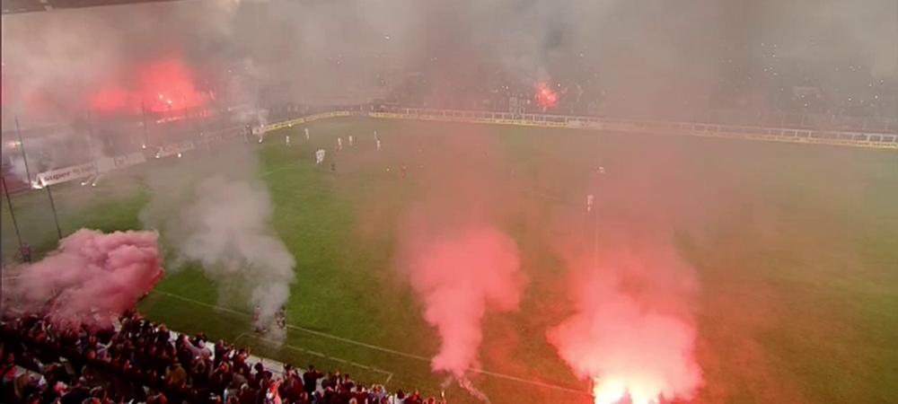 Atmosfera SENZATIONALA la Rapid - Steaua! Foc in tribune: Rapid 1-1 Steaua. Panenka Predescu la penalty, Niculae a dat golul Rapidului