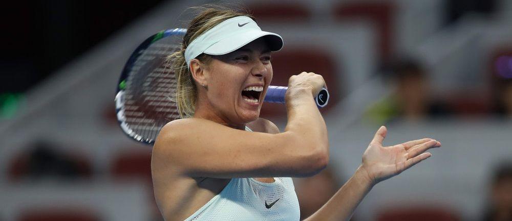 Maria Sarapova a castigat turneul de la Tianjin, primul dupa revenirea in activitate, in urma suspendarii pentru dopaj