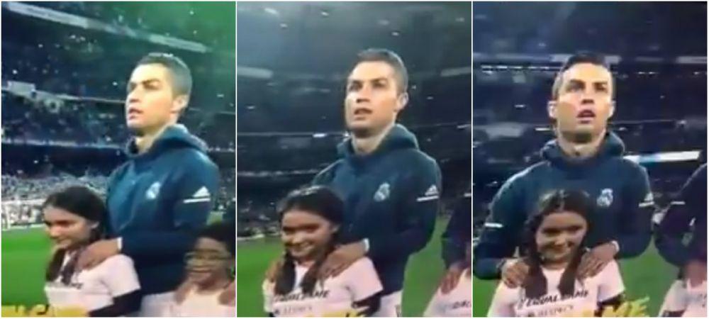 """Daaa CHAMPIOOONSSS"" :) Faza neobservata de la Real - Tottenham. Gestul cu care Ronaldo i-a amuzat pe fani: VIDEO"